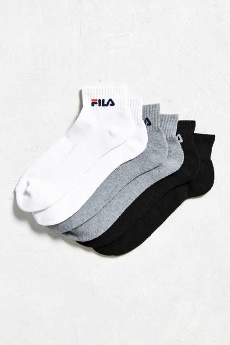 FILA Wordmark Quarter Sock 3-Pack