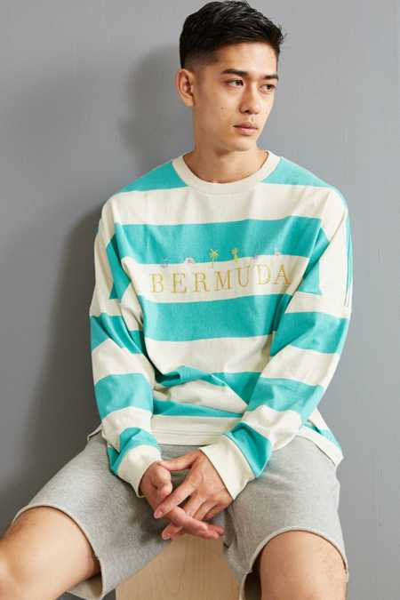 UO Bermuda Stripe Long Sleeve Tee