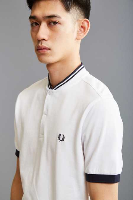 Fred Perry Bomber Collar Pique Henley Tee