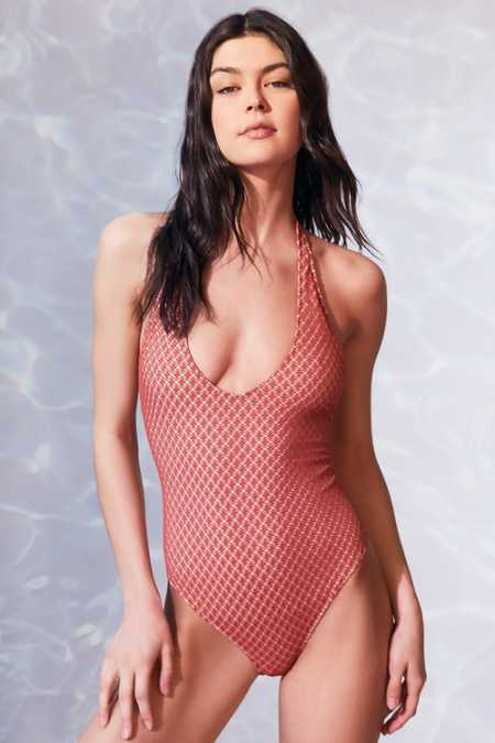 Out From Under Lo + Behold Halter One-Piece Swimsuit