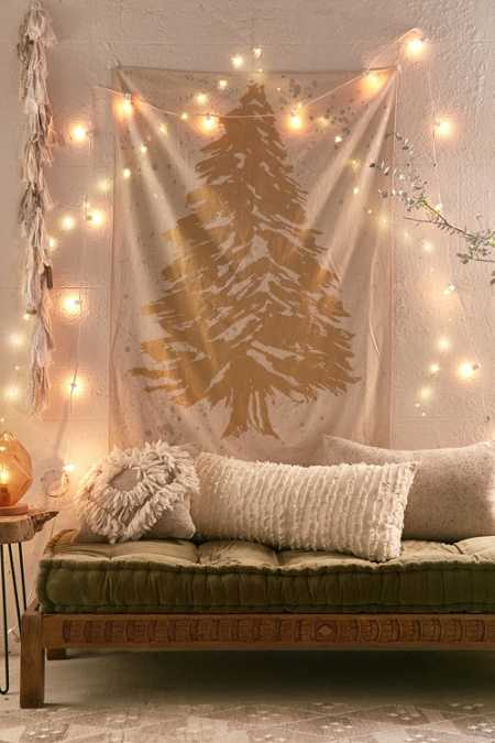 Gold Foil Tree Tapestry