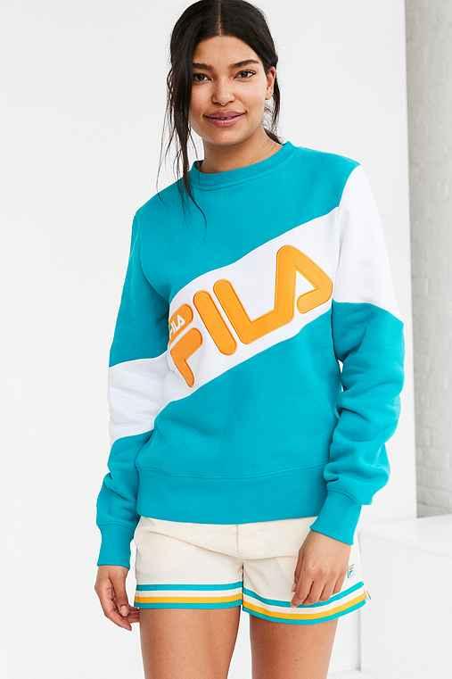 FILA + UO Alexa Crew Neck Sweatshirt,GREEN,XS