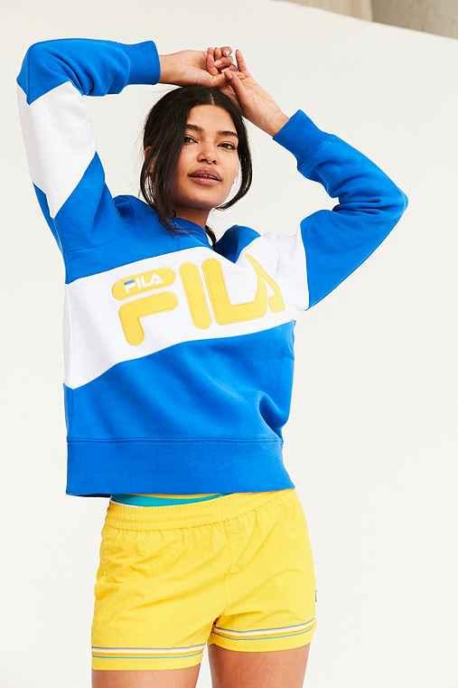 FILA + UO Alexa Crew Neck Sweatshirt,BLUE,M