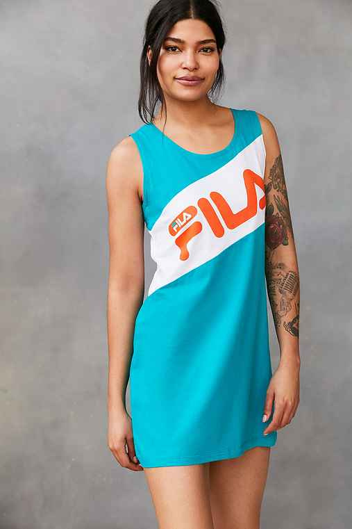 FILA + UO Alissa Color Block Dress,GREEN,M