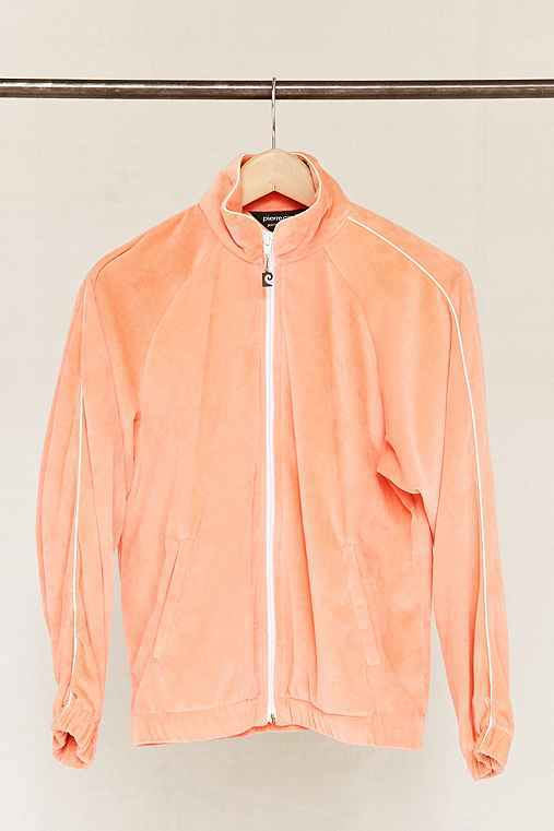 Vintage Peach Velour Zip-Up Jacket,ASSORTED,ONE SIZE