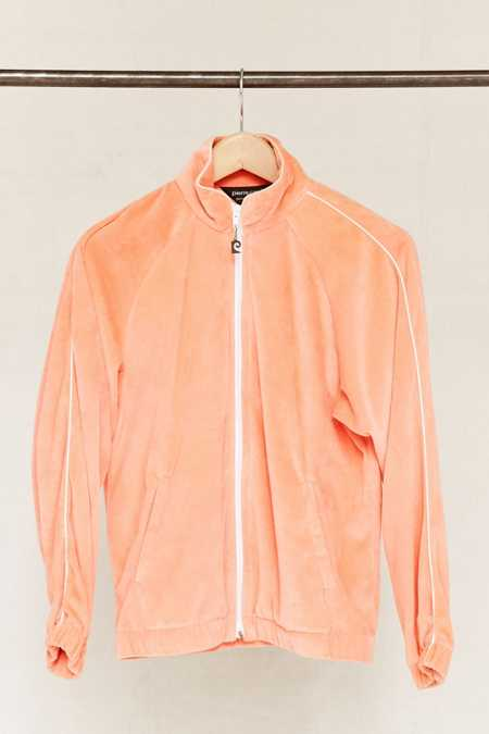Vintage Peach Velour Zip-Up Jacket