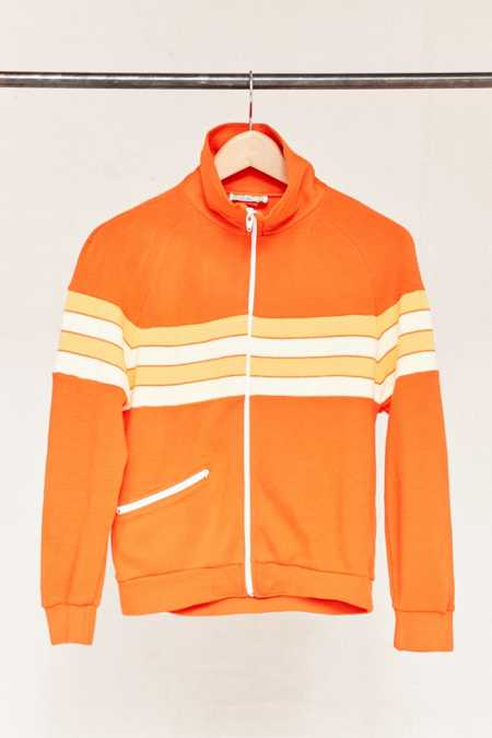 Vintage 70's Striped Zip-Up Jacket