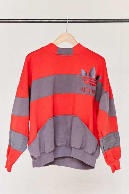 Vintage adidas Red Color Block Sweatshirt