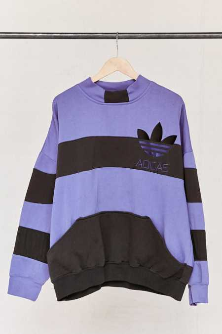 Vintage adidas Purple Color Block Sweatshirt