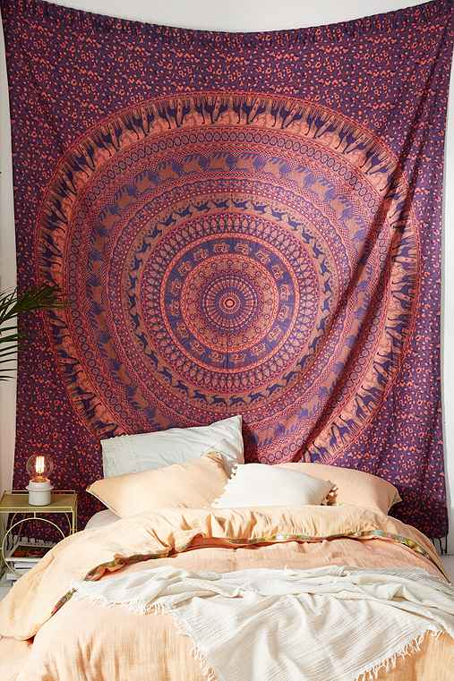Animal Maze Tapestry,BLUE MULTI,ONE SIZE