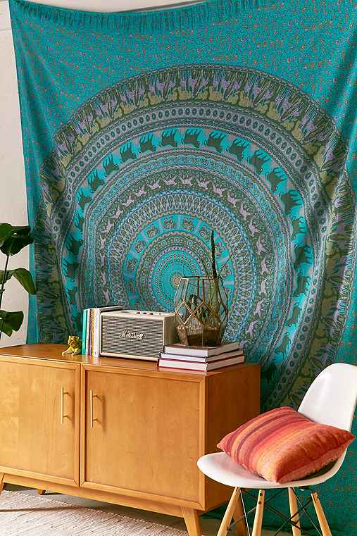 Animal Maze Tapestry,TURQUOISE MULTI,ONE SIZE