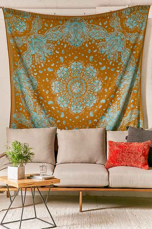 Muriel Bandana Tapestry,GOLD,ONE SIZE