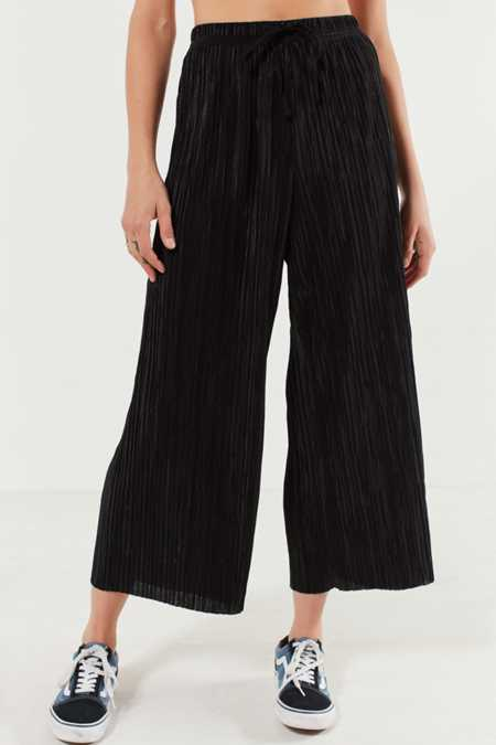 Silence + Noise Sasha Accordion Pleat Culotte Pant
