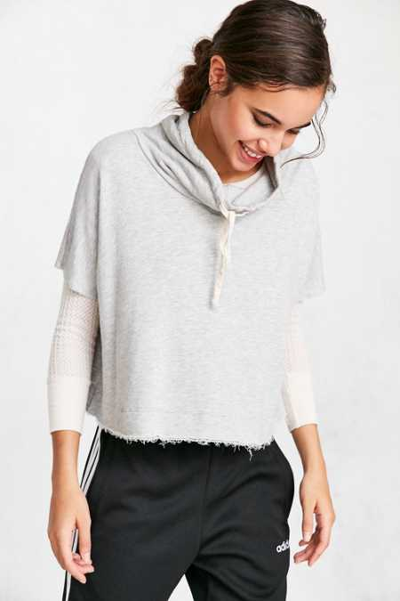 Truly Madly Deeply Funnel Neck Swing Sweatshirt