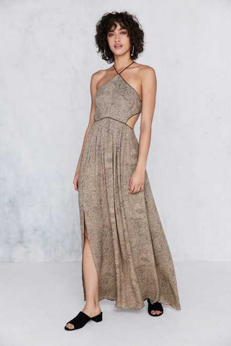 Silence + Noise Cecilia Strappy Y-Neck Maxi Dress