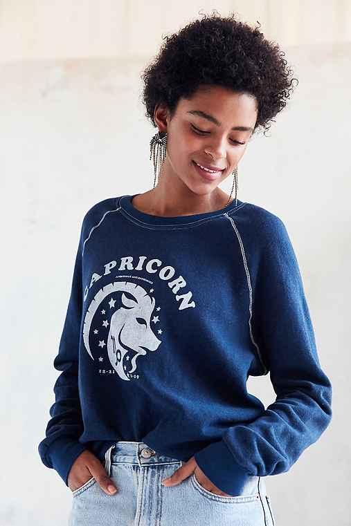Project Social T '70s Astrology Sweatshirt,CAPRICORN,M
