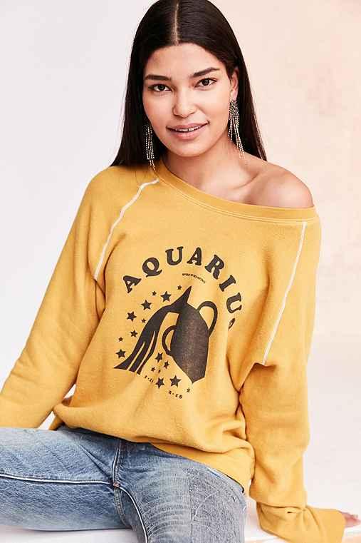 Project Social T '70s Astrology Sweatshirt,AQUARIUS,L