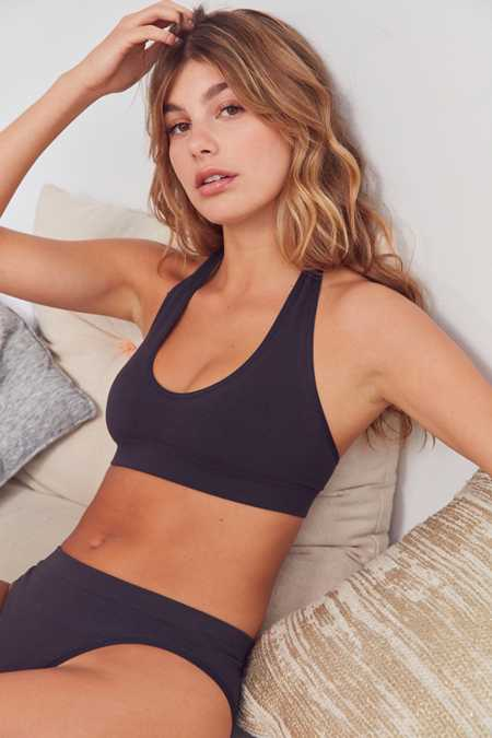 Out From Under Markie Seamless Ribbed Halter Bra