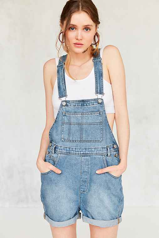 BDG Essential Denim Shortall Overall,LIGHT BLUE,XS