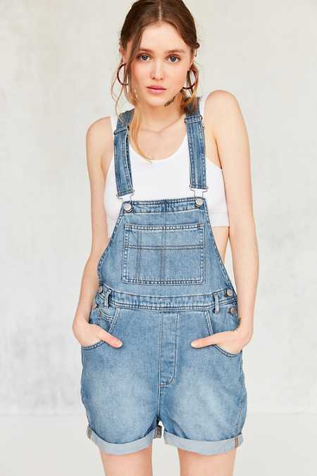 BDG Essential Denim Shortall Overall - Light Blue