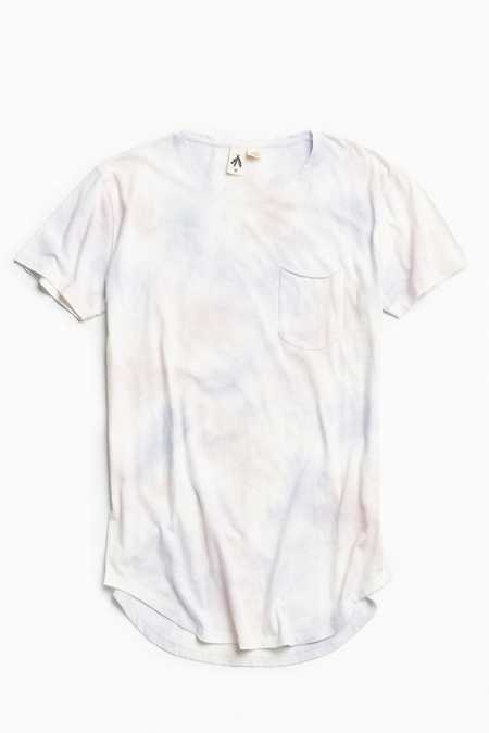 Feathers Cloud Wash Long Loose Scoopneck Tee