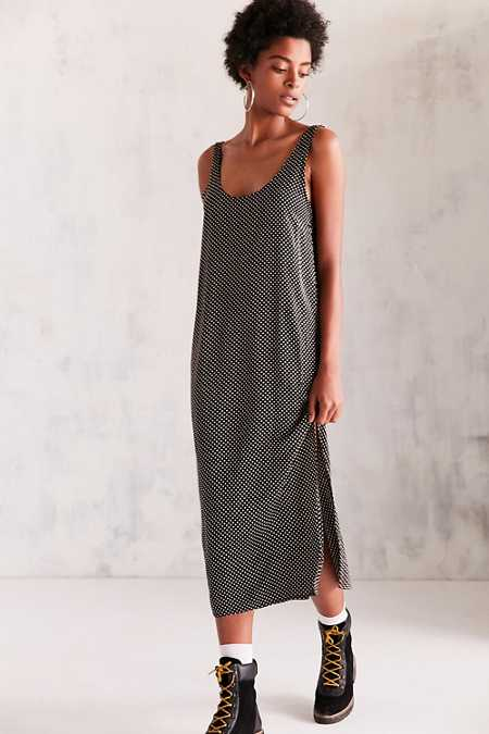 Cooperative Daphne Scoop-Back Midi Slip Dress