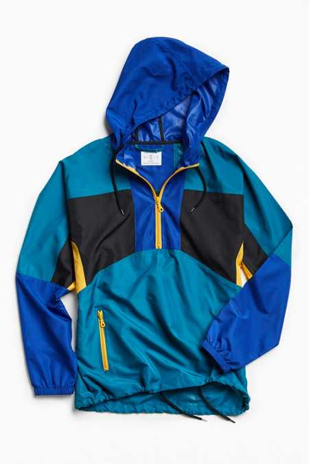 UO '90s Colorblocked Anorak Jacket