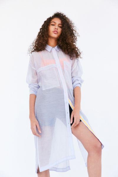 BDG Mermaid Maxi Button-Down Shirt
