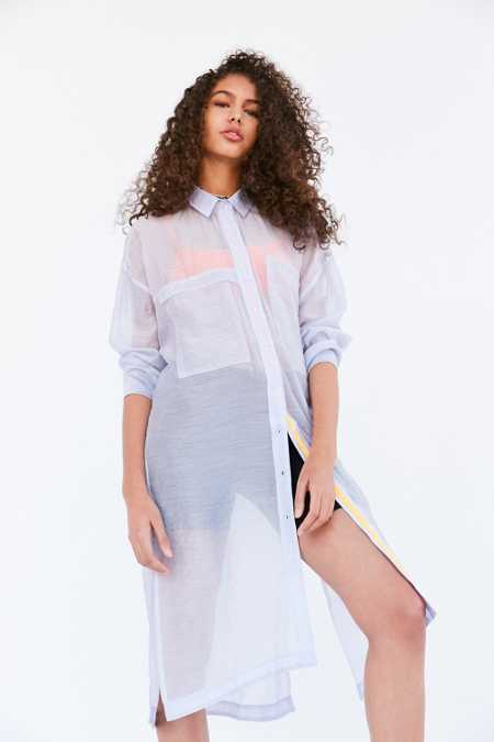 BDG Mermaid Maxi Button-Down Shirt