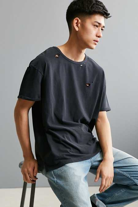 Feathers Destroyed Slouch Fit Tee