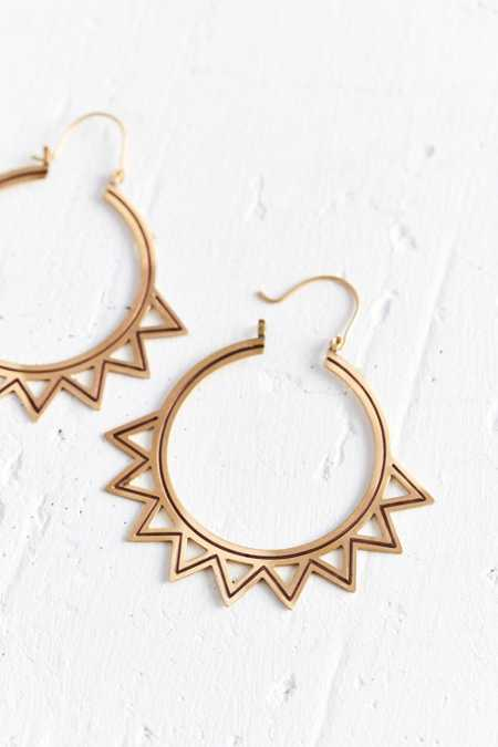 Sunburst Statement Hoop Earring