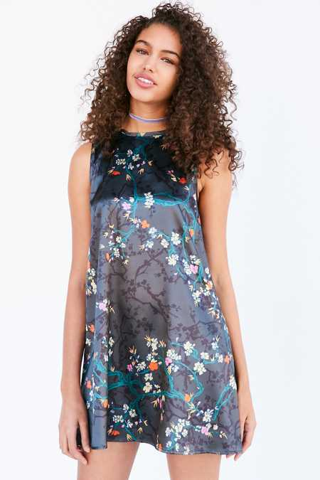 Kimchi Blue Carmine Satin Frock Mini Dress