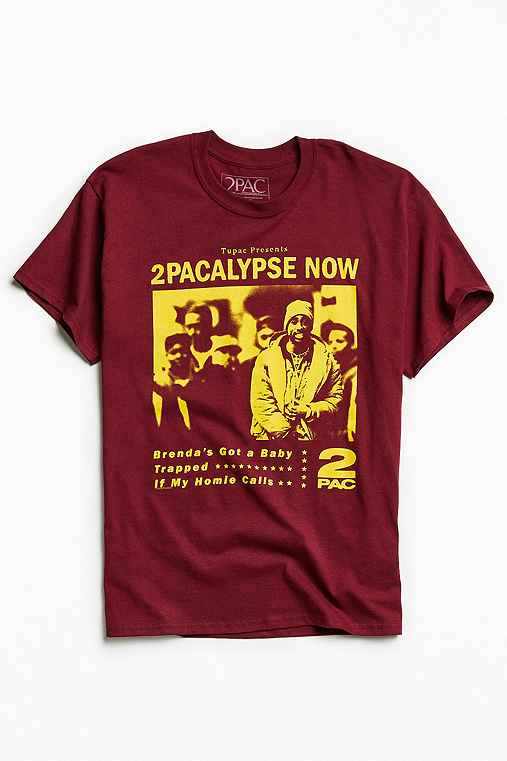 2Pacalypse Now Tee,MAROON,XL