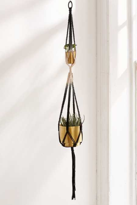 Serena Ombre Macrame Double Hanging Planter