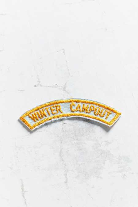 Vintage Winter Campout Patch