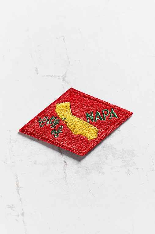 Vintage Napa Patch,RED,ONE SIZE