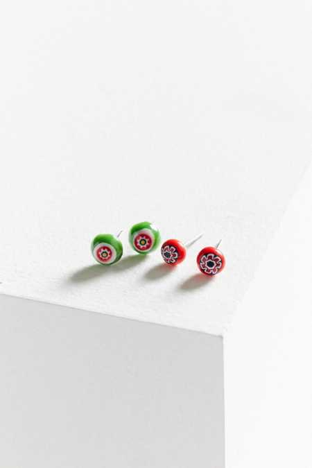 Dale Glass Bead Post Earring Set