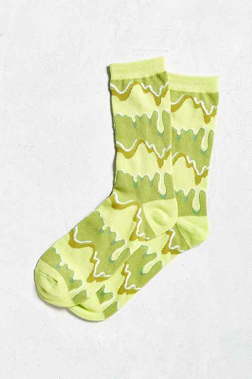 Slime Crew Sock,GREEN MULTI,ONE SIZE