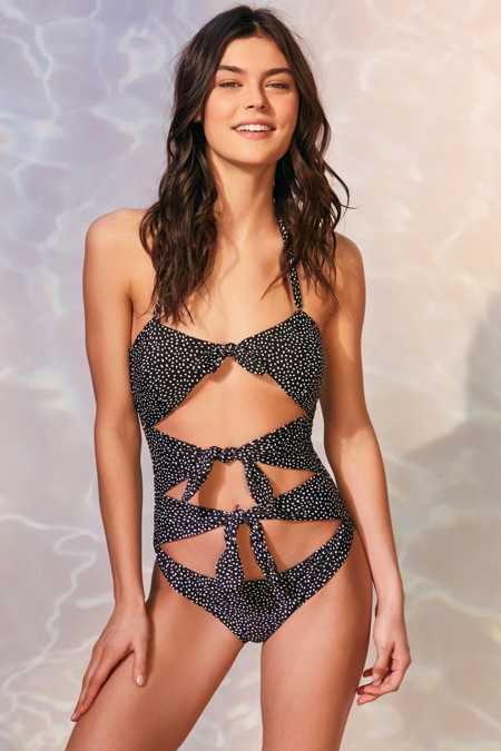 MINKPINK Mantaray Cutout One-Piece Swimsuit