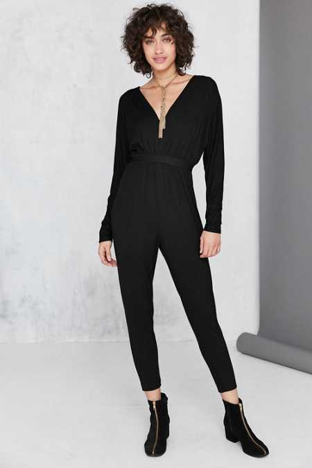 Silence + Noise Lexie Knit Dolman-Sleeve Jumpsuit