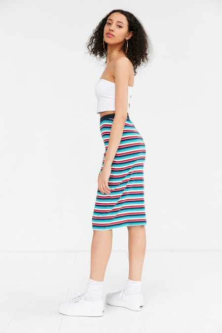 OBEY Darkside Ribbed Midi Skirt