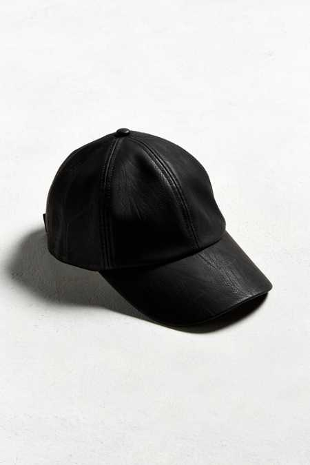 UO Faux Leather Baseball Hat