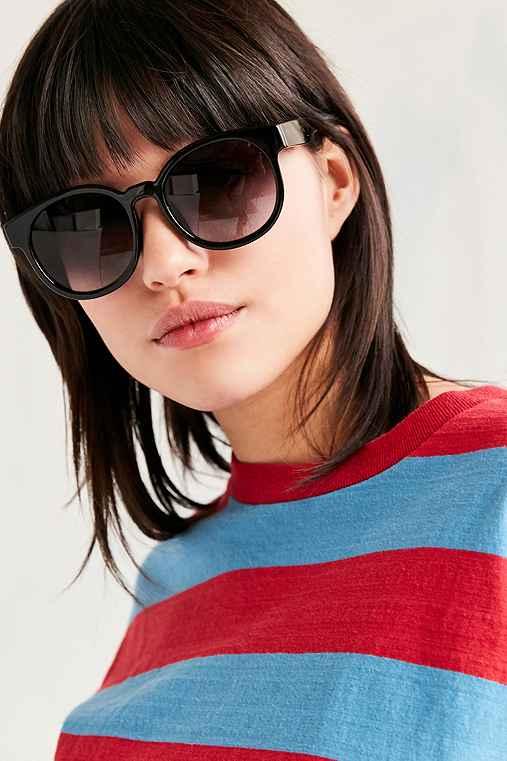 Bahama Rounded Square Sunglasses,BLACK,ONE SIZE