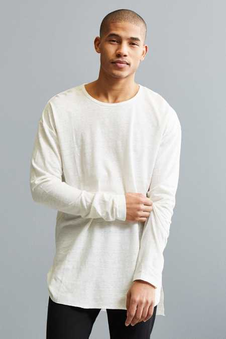 Feathers Ash Linen Long Sleeve Tee
