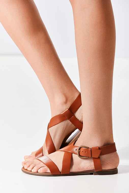 Maddie Leather Sandal,BROWN,8