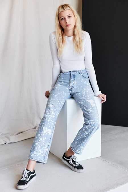 Vintage Levi's Paint Splattered Jean - White