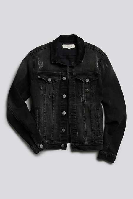 Calvin Klein Reissue Black Denim Washed Trucker Jacket