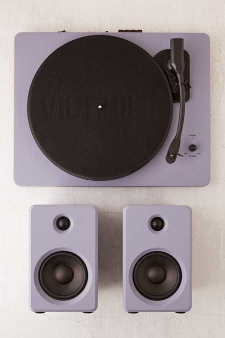 EP-33 Bluetooth Turntable With Speakers - Lavender Stone
