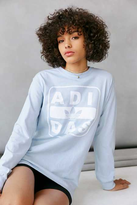 adidas + UO Long-Sleeve Stenciled Logo Tee