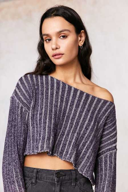 Silence + Noise Kylie Ribbed Crop Sweater